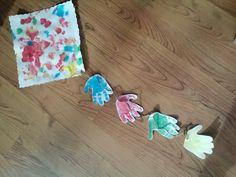 Hand print kite craft