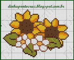 Dinha Ponto Cruz: gráficos de flores em ponto cruz                                                                                                                                                                                 Mais