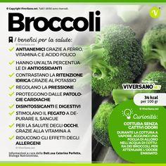 Lo sapevi che... i #broccoli hanno un'alta percentuale di #antiossidanti e grazie al #potassio contrastano la #ritenzioneIdrica . #salute #alimentazione #viversano