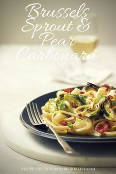 A perfect winter pasta. http://recipes.oregonlive.com/recipes/brussels-sprouts-and-pear-carbonara