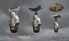 ArtStation - Titanfall 2 Drop pod, Danny Gardner