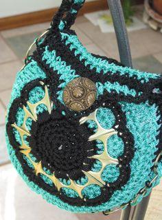 pop top  short handle purse by Maxine Grossman