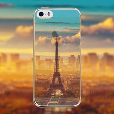 Phone Case Cover for Apple iphone 4 4s Mountain Ocean Eiffel Tower painted Soft Sillicon Transparent TPU Mobile Phone Bags Back