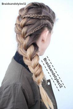 French braid braided hairstyles by Braidsandstyles12. Braids, School Braids. Youtube Channel : https://www.youtube.com/user/Dmmr1000/videos
