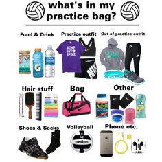 Whats in my practice bag???? :) by madyson05 on Polyvore featuring NIKE, Asics, scunci, PhunkeeTree, GHD and Acca Kappa