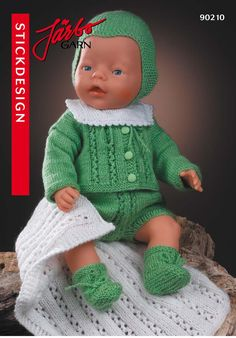 Baby Born Clothes, Preemie Clothes, Knitting Dolls Clothes, Crochet Baby Clothes, Doll Clothes Patterns, Doll Patterns, Crochet Doll Dress, Knitted Dolls, Knitting For Kids
