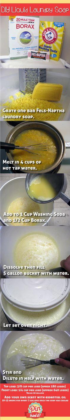 Via: http://pintriedit.com - Handmade-Laundry-Soap.  I am so doing this!!