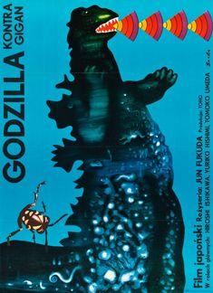 Un article précédent avec d'autres affiches pour Godzilla est ici.