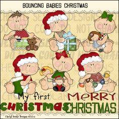 Bouncing Babies Christmas 1 - Clip Art by Cheryl Seslar