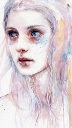 """Unsaid Things"" detail, Agnes Cecile"