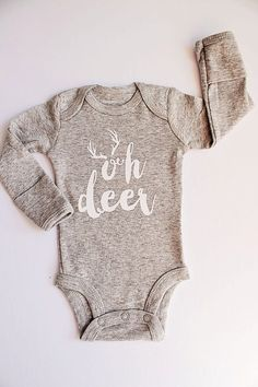 Boys Gray Bodysuit Oh Deer Boys Clothes Newborn Bodysuit Baby Boy Outfit Baby Shower Gift Newborn Gift Boy Gift Boy Home Coming - Baby Boy Swimsuits - Ideas of Baby Boy Swimsuits - Boy Christmas Outfit.Oh Deer.Newborn Christmas by LittleBoySwag Baby Outfits, Baby Dresses, The Babys, Boys Christmas Outfits, Christmas Baby Clothes, Christmas Onesies For Babies, Newborn Christmas Outfit Boy, Christmas Ideas, Christmas Baby Shower