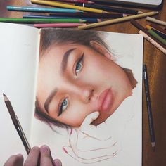 Drawing Pencil Portraits - Holy shit this is fantastic Discover The Secrets Of Drawing Realistic Pencil Portraits Pencil Drawings, Art Drawings, Horse Drawings, A Level Art, Color Pencil Art, Colored Pencil Portrait, Realistic Drawings, Beautiful Drawings, Portrait Art