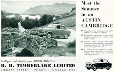 1956 advert featuring Austin Cambridge