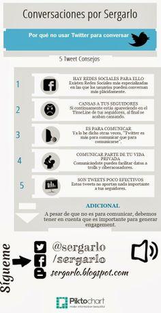 #Infografia #RedesSociales Por qué no usar Twitter para conversar. #TAVnews