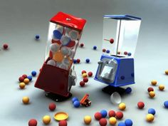 Gumball Wars by Scott Thierauf. The two gumball machines have very distinct personalities and Thierauf uses them to great effect in this mini masterpiece. It is very funny too – I just love the way the blue gumball machine snickers! If this little story has any moral it is perhaps that patience has its own rewards.