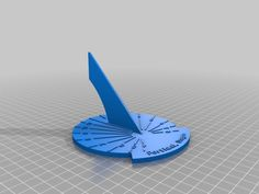 Customizable Sundial by doctek - Thingiverse