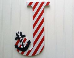 Painted Wooden nautical letter