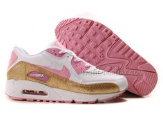 http://www.womenairmax.com/nike-air-max-90-womens-shoes-wholesale-pink-white-gold.html Only$89.00 #NIKE AIR MAX 90 WOMENS #SHOES WHOLESALE PINK WHITE GOLD #Free #Shipping!