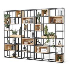 Industrial wind solid wood shelf partition porch wrought iron screen shelf home simple office partition bookcase - Industrial wind wood shelf partition wall racks, wrought iron entrance minimalist home office partitions bookshelf Solid Wood Shelves, Wood Shelf, Shelf Wall, Metal Shelves, Office Interior Design, Office Interiors, Minimalist Office, Porche, Home Decor Ideas