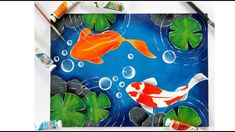 This video shows how to paint a simple and easy koi fish pond. Learn how to paint simple koi fishes. Paint koi fish with Acrylic on canvas Acrylic Painting For Beginners, Simple Acrylic Paintings, Easy Paintings, Coy Fish, Koi Fish Pond, Acrylic Tutorials, Fantasy Paintings, Mermaid Paintings, Small Canvas Art