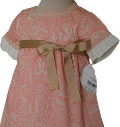 Descripción del artículo: Ropa Verano niña de 0 a 5 años, , Vestido de niña manga francesa cachemire coral.. Tienda Virtual