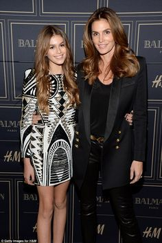 The next generation: Kaia has been following in her mom Cindy Crawford's footsteps - even ...