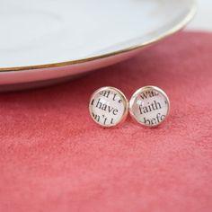 Pink Salt Riot // Have Faith Tiny Stud Earrings