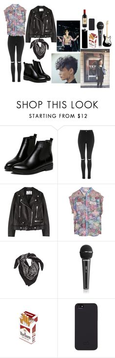 """""""Matty Healy"""" by valenndeo ❤ liked on Polyvore featuring beauty, WithChic, Topshop, Acne Studios, Zimmermann, LULLA COLLECTION BY BINDYA, WALL, C6 and Kikkerland"""