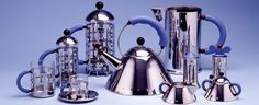 Image 11 of 28 from gallery of Happy Birthday Michael Graves! Michael Graves for Alessi Art Nouveau, Green Label, Stainless Steel Kettle, Michael Graves, Silver Teapot, Design Theory, Richard Meier, My Cup Of Tea, Decoration
