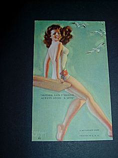 Zoe Mozert Mutoscope Pinup Card, Swim, Dive