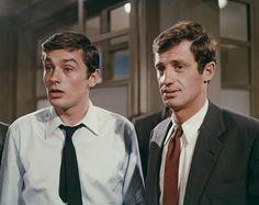 Alain Delon et Jean -Paul Belmondo en 1966