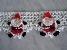 barrado de fuxico com crochet - Pesquisa Google