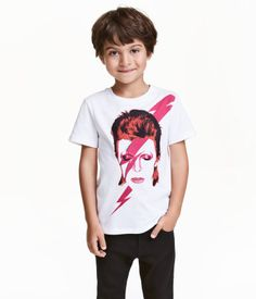 T-shirt with Printed Design | White/David Bowie | Kids | H&M US