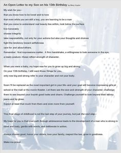 [ More Birthdays Open Letter Son Sons Birthday Letters Ezra His The Inquisitive Mom ] - Best Free Home Design Idea & Inspiration Happy 13th Birthday, Sons Birthday, Birthday Ideas, Boyfriend Birthday Quotes, Boyfriend Quotes, Letters To My Son, Kids Letters, Best Friends Funny, Birthday Letters