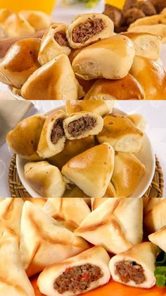 New Recipes, Snack Recipes, Cooking Recipes, Snacks, Bread Cake, Empanadas, Finger Foods, Food Hacks, I Foods