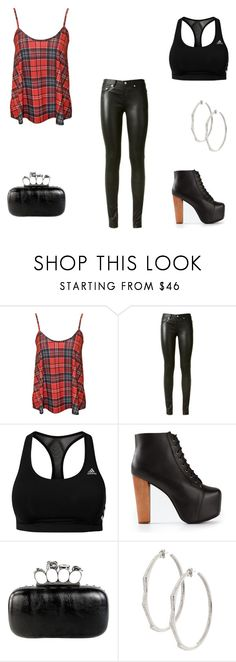 """""""Erica Reyes Inspired Outfit"""" by nicklechalupnik ❤ liked on Polyvore featuring Yves Saint Laurent, adidas, Jeffrey Campbell and Lynn Ban"""