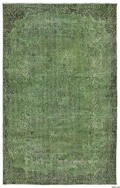 K0015032 Green Over-dyed Turkish Vintage Rug | Kilim Rugs, Overdyed Vintage Rugs, Hand-made Turkish Rugs, Patchwork Carpets by Kilim.com