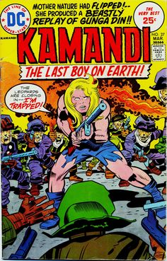 Kamandi #27, March 1975, cover by Jack Kirby