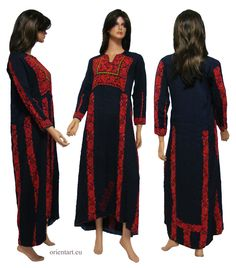 Palestinian embroidered ethnic dress
