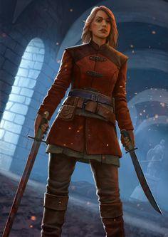 The Witcher is love, The Witcher is life. — Angouleme by Nikita Moskalev. Fantasy Warrior, Fantasy Rpg, Fantasy Artwork, Fantasy Adventurer, Medieval Fantasy, Dnd Characters, Fantasy Characters, Female Characters, Fantasy Inspiration