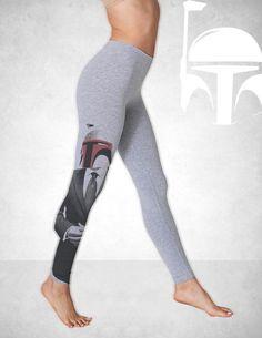 Awesome Screen Printed  Boba Fett Leggings