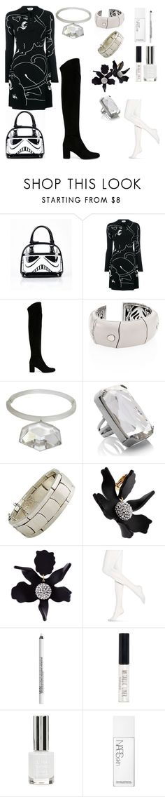 """""""May the """"fourth"""" power outfit"""" by onenakedewe ❤ liked on Polyvore featuring Loungefly, Valentino, Yves Saint Laurent, John Hardy, Judith Hendler, Marc Jacobs, Antonio Pineda, Lele Sadoughi, Hue and NYX"""