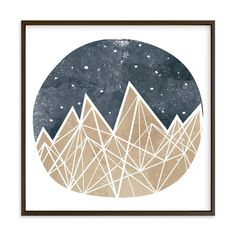 """Nighttime Sky"" - Art Print by Shirley Lin Schneider in beautiful frame options and a variety of sizes."