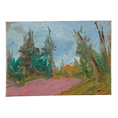 """Pink Meadow and Forest"" by Samuel Paden. #serenaandlily"