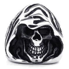KONOV Jewelry Mens Stainless Steel Ring, Gothic Casted Grim Reaper Skull, Black Silver, Size 7 KONOV Jewelry http://www.amazon.com/dp/B00K5HCUO2/ref=cm_sw_r_pi_dp_nKeLub0P21415