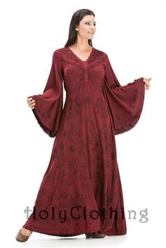 #holyclothing In Burgundy Wine: http://holyclothing.com/index.php/alyssa-bell-sleeve-gothic-victorian-empire-butterfly-vtg-dress.html