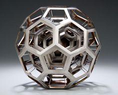 Buckyball sculpture by physicist Julian Voss-Andreae