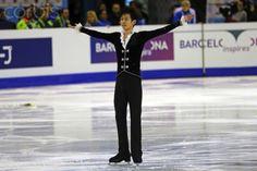 Sota Yamamoto in the Junior Men Short Program ISU Grand Prix in Barcelona