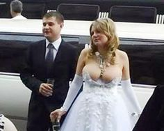 ugly wedding dress...she actually did this on PURPOSE?????