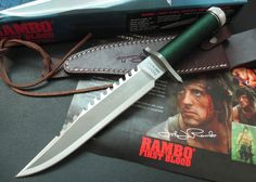 Rambo Outdoor Survival Knife With Survival Kit In Handle 2155